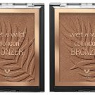 wet n wild Color Icon Bronzer - E743B What Shady Beaches, Brown, 11 g (Set of 2 Pack)
