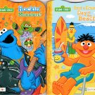 Sesame Street Rockin Monsters! and Bert & Ernie's Day at the Beach. - Children's Board Book