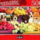 Flower Market Pups - 500 Jigsaw Puzzle