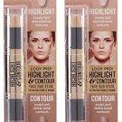 Hard Candy Highlight and Contour Face Duo Stick, 1096 Light (Set of 2)