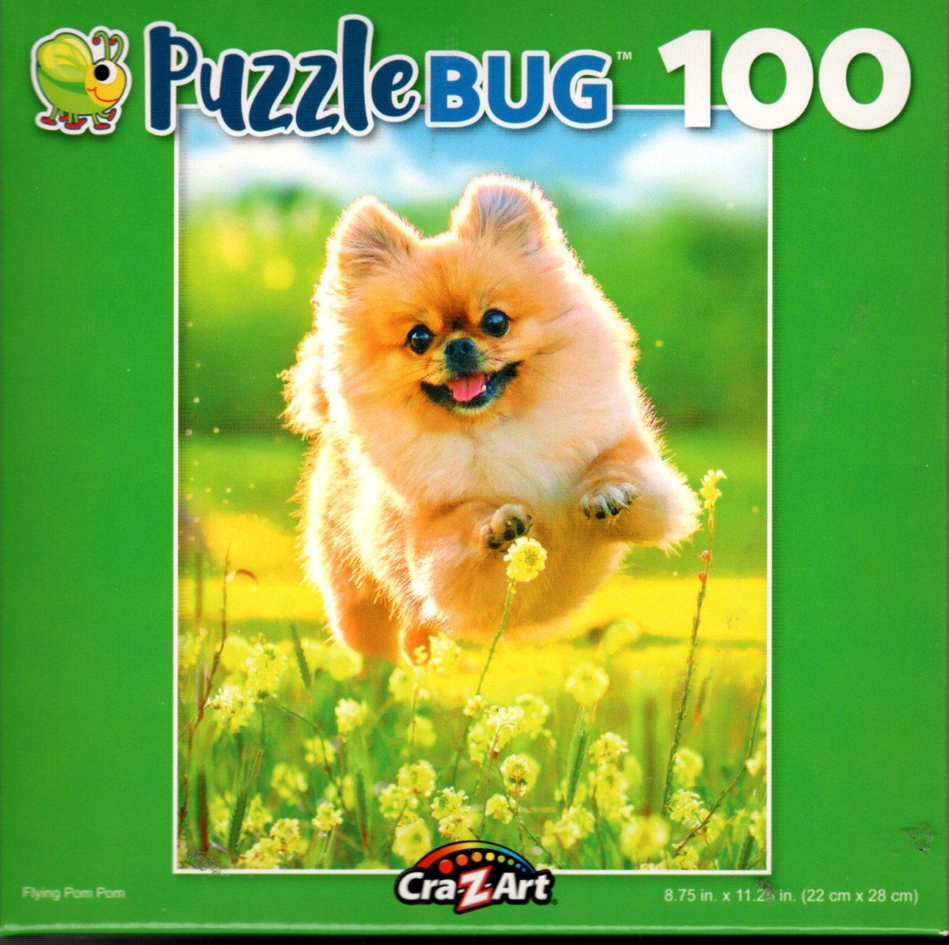 Flying Pom Pom - 100 Piece Jigsaw Puzzle