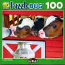Dairy Calf's Drinking Milk - 100 Piece Jigsaw Puzzle