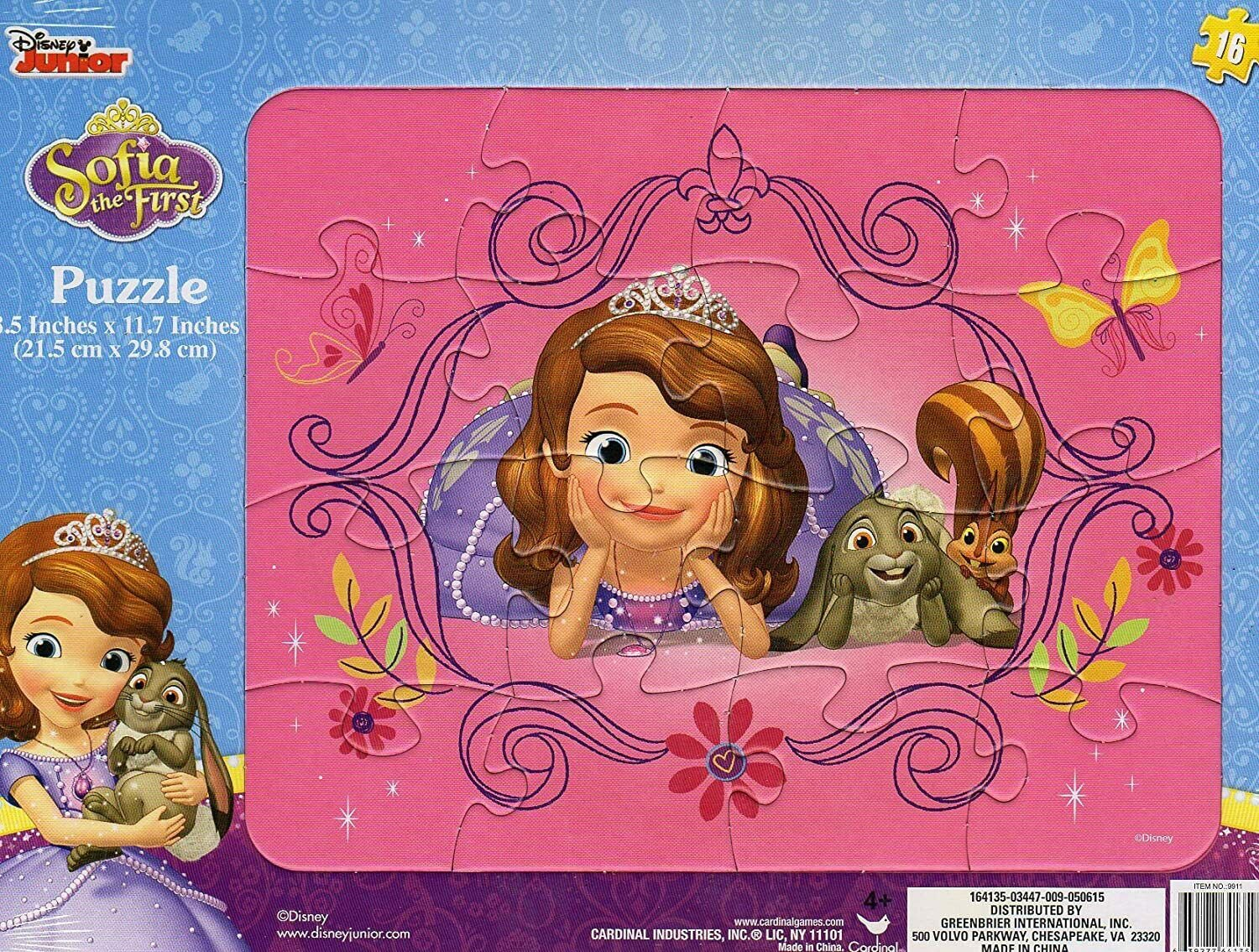 Disney Junior Sofia The First - 16 Pieces Jigsaw Puzzle