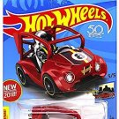 Hot Wheels 2018 50th Anniversary HW Ride-Ons Kick Kart 197/365, Red hw 001