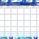 Weekly Meal Planner Magnetic/Desk Calendar - (Flowers 01)