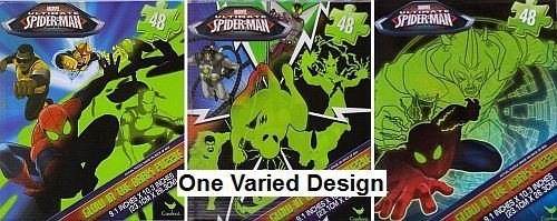 Glow In The Dark Spider-Man Jigsaw Puzzle - 48 Pieces Puzzle