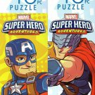 Marvel Super Hero Adventures - 48 Pieces Jigsaw Puzzle (Set of 2)