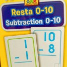 School Zone Bilingual Spanish English Subtraction (Resta)