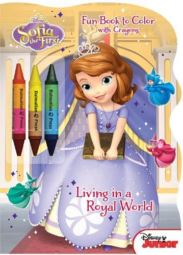 Disney Junior Sofia the First: Living in a Royal World: Shaped Fun Book to Color with Crayons