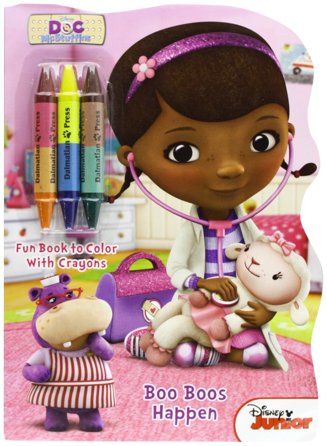 Doc McStuffins Boo Boos Happen: Shaped Book to Color with Crayons