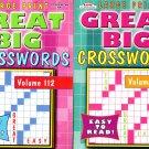 Large Print - Great Big - Crosswords - Vol.111-112 (Set of 2 Books)