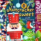 Jumbo Coloring and Activity Book - Stocking Stuffers, Nutcracker Sweet, Candy Canes - Set of 3 Books