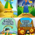 David and Goliath, Daniel in the Lions Den, The Story of Moses, Joshua and the Wall - Board Book