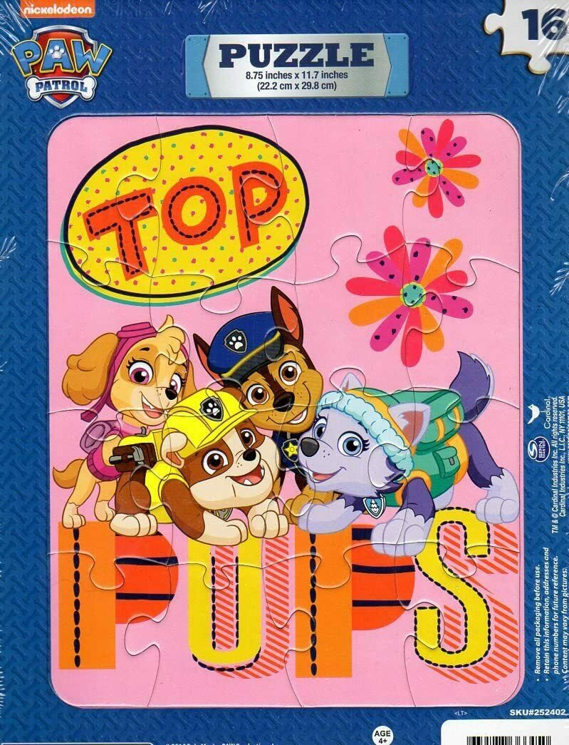 Nickelodeon Paw Patrol - 16 Pieces Jigsaw Puzzle - v2