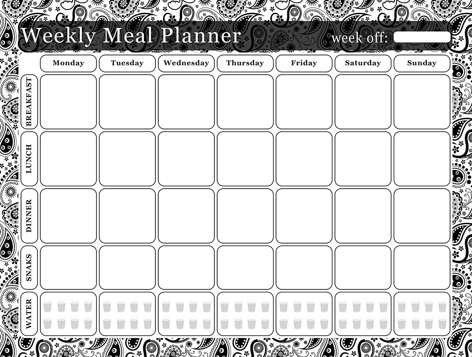 Meal Planner Magnetic Desk Calendar Notepad Menu Food Organizer Weight Loss (02)