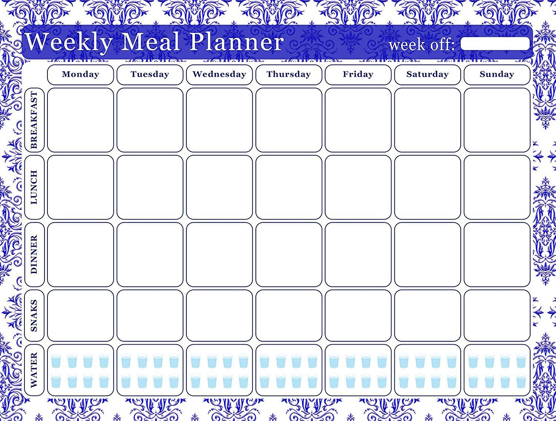 Meal Planner Magnetic Desk Calendar Notepad Menu Food Organizer Weight Loss (07)
