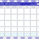Meal Planner Magnetic Desk Calendar Notepad Menu Food Organizer Weight Loss (07)