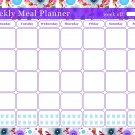 Meal Planner Magnetic Desk Calendar Notepad Menu Food Organizer Weight Loss (08)
