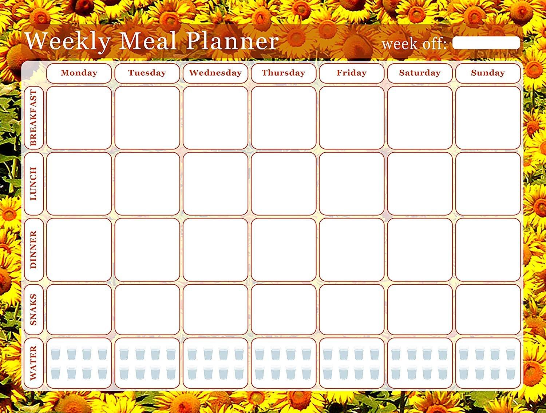 Meal Planner Magnetic Desk Calendar Notepad Menu Food Organizer Weight Loss (05)