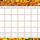 Meal Planner Magnetic Desk Calendar Notepad Menu Food Organizer Weight Loss (05)