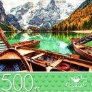 Boats on Lake - 500 Piece Jigsaw Puzzle