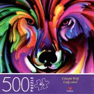 Colorful Wolf - 500 Piece Jigsaw Puzzle