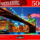 Brooklyn Bridge and Freedom Tower at Night - 500 Pieces Jigsaw Puzzle