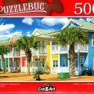 Colorful Houses in Panama City Beach Florida - 500 Pieces Jigsaw Puzzle