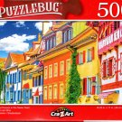 Colorful Houses in The Swiss Town of Stein am Rhei - 500 Pieces Jigsaw Puzzle
