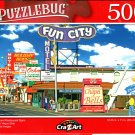 Motel and Restaurant Signs on Las Vegas Strip - 500 Pieces Jigsaw Puzzle