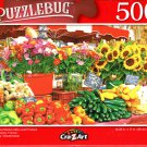 Provence Market with Local Produce and Flowers, France - 500 Pieces Jigsaw Puzzle