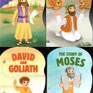David, Daniel, Moses, Joshua  - Children's Board Book (Set of 4 Books)