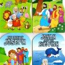Noah, Zacchaeus, Joseph, Jonah - Children's Board Book (Set of 4 Books)