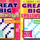 Large Print - Great Big - Crosswords - Easy to Read - Vol.115-116 (Set of 2 Books)