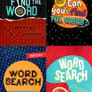Word Search Find the Word, Can You Find Word - Giant Print, Jumbo Size (Set of 4 Books)
