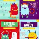 Educational Workbooks Kindergarten - Set of 4 Books - v11