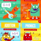 First Grade Educational Workbooks - Good Grades - Reading, Phonics, Addition, & Subtraction
