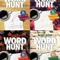 Large Print Word Hunt - All New Puzzles - Sharpen Your Memory - Vol. 105-108 (Set of 4 Books)