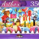 Birdhouse Row by Corinne Ferguson - 350 Pieces Jigsaw Puzzle