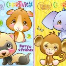 Precious Moments ColorTivity - Safari Paws & Furry Friends - Coloring & Activity Book - (Set of 2)