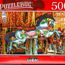 Antique Carousel Merry Go Round Horse - 500 Pieces Jigsaw Puzzle