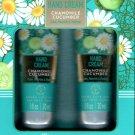 Chamomile + Cucumber Hand Cream 2 Pack Set Moisturize 2 x 1fl oz. (30ml)