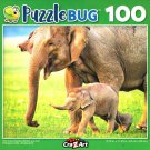 Wild Asian Elephant Mother and Calf - 100 Piece Jigsaw Puzzle