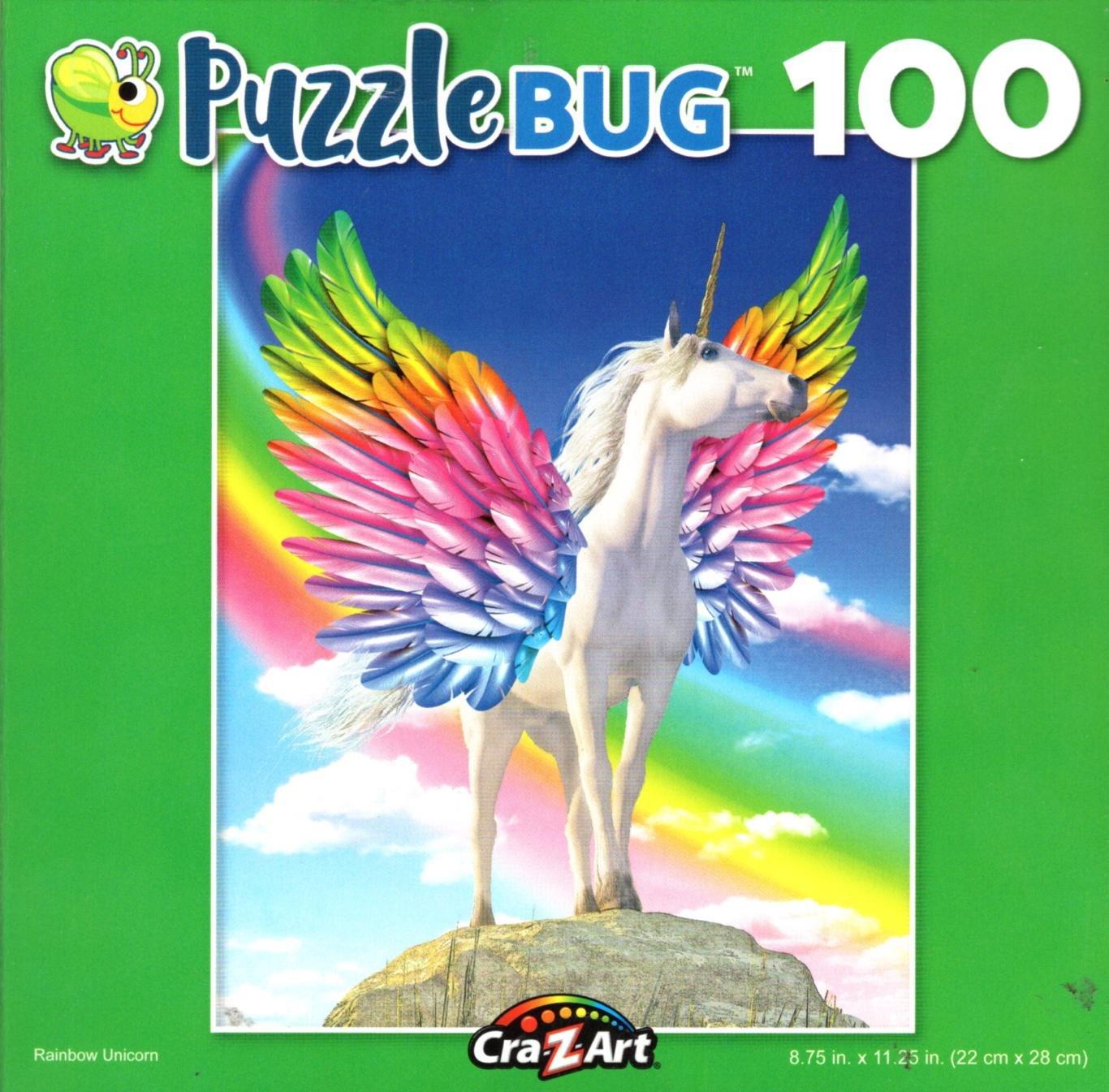 Rainbow Unicorn - Puzzlebug - 100 Piece Jigsaw Puzzle v2