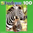 Zebra Mother and Baby - 100 Piece Jigsaw Puzzle