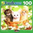 Cute Kitten Basket - 100 Piece Jigsaw Puzzle