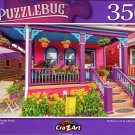 Pretty Purple Porch - 350 Pieces Jigsaw Puzzle