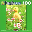 Duckling in the Flowers - 100 Piece Jigsaw Puzzle