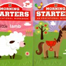 First Grade & Second Grade - Morning Starters Educational Workbooks - Set of 2 Books - v12