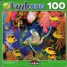 Hawksbill Sea Turtle, Fijian Island  - 100 Piece Jigsaw Puzzle